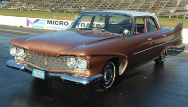 1960 plymouth savoy at race track