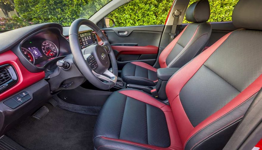 The interior of a 2018 Kia Rio