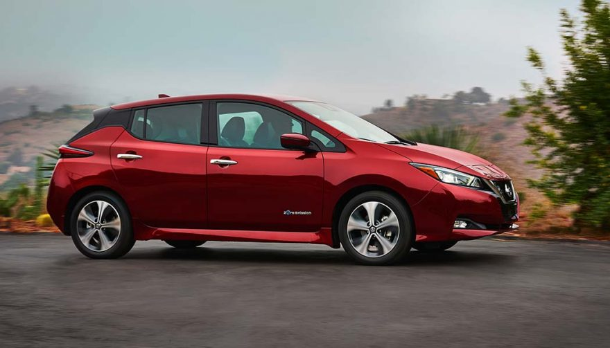 The Nissan Leaf is one of the best winter cars