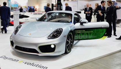 The Caymen e-volution is a Porsche electric car