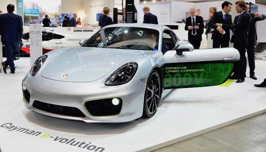 The Caymen e-volution is a Porsche electric car