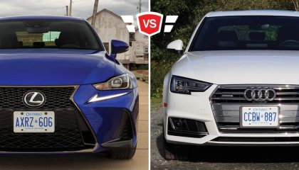 Audi A4 vs Lexus IS350 luxury compact sports sedan matchup