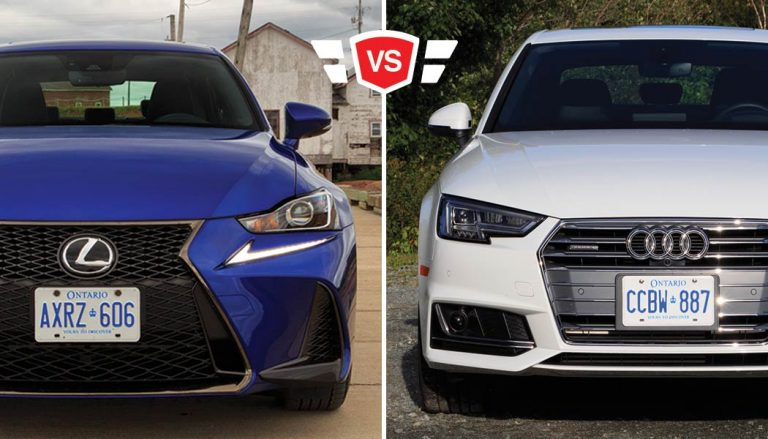 Audi A4 vs Lexus IS350 luxury compact sports sedan matchup