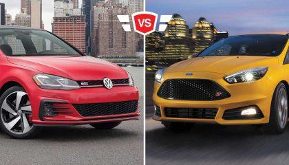 Focus ST vs GTI hto hatch comparison
