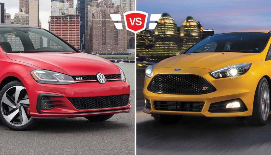 Focus ST vs GTI hto hatch comparison