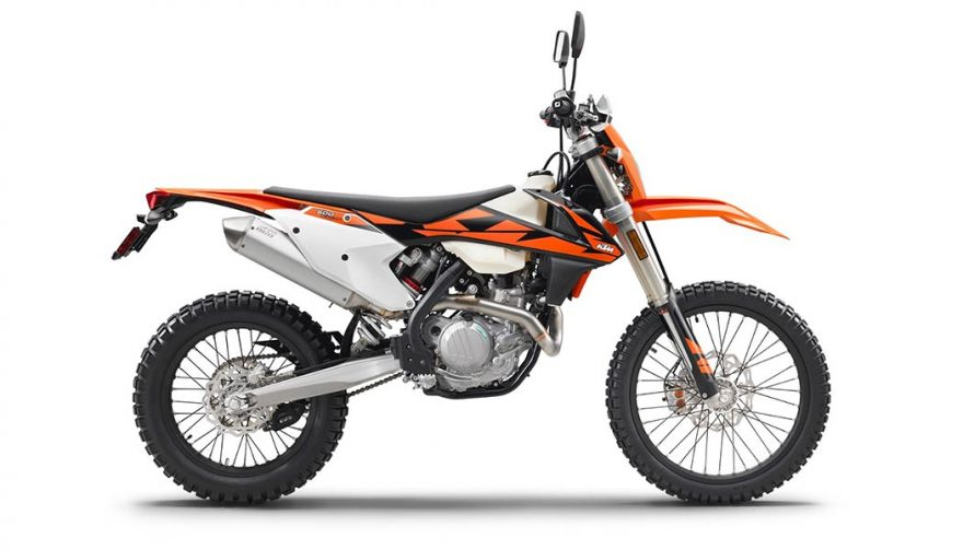 The 2018 KTM 500 EXC-F is one of the best dual sport motorcycles