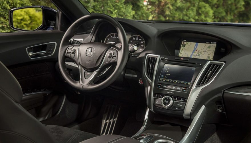The interior of the new Acura TLX A-Spec
