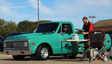 1971 Chevy C10 At A Car Meet