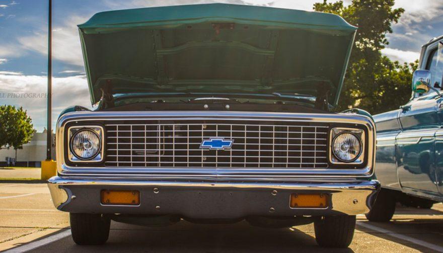1971 Chevrolet C10 Hood Open