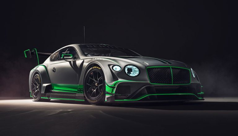 The new Bentley race car, the Continental GT3