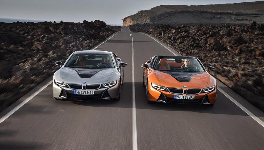 The BMW i8 Roadster and Coupe