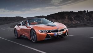 The 2019 BMW i8 Roadster is a convertible