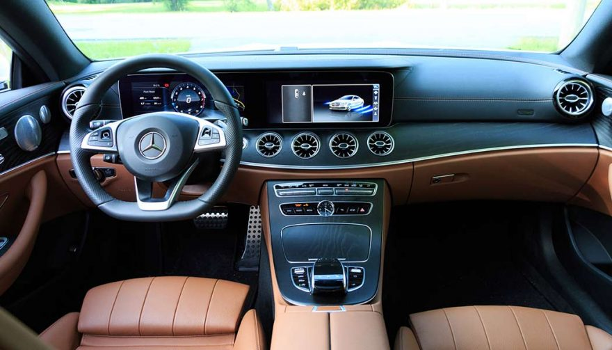 Interior of the Mercedes Benz E400 Coupe