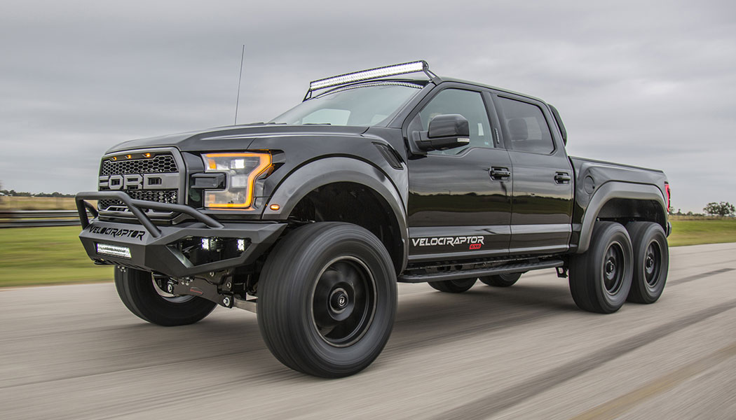 Velociraptor 6x6 Hennessey Creates Monster 600 Hp Ford F150