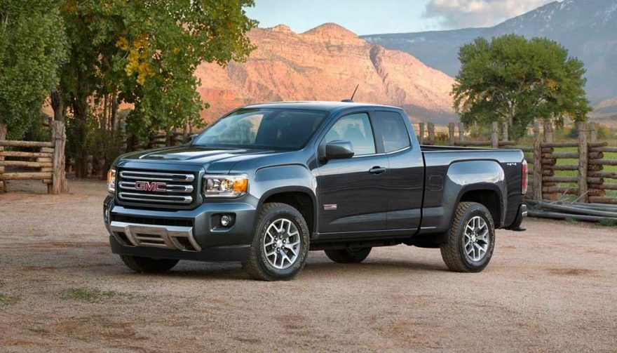 The 2017 GMC Canyon SL 4x2 Extended Cab is one of the cheapest new trucks
