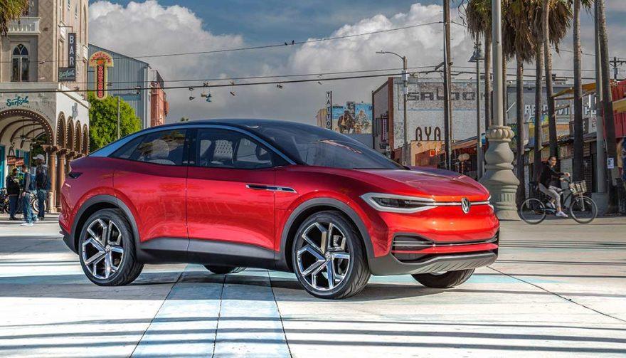 The 2020 Volkswagen ID Crozz at the LA Auto Show
