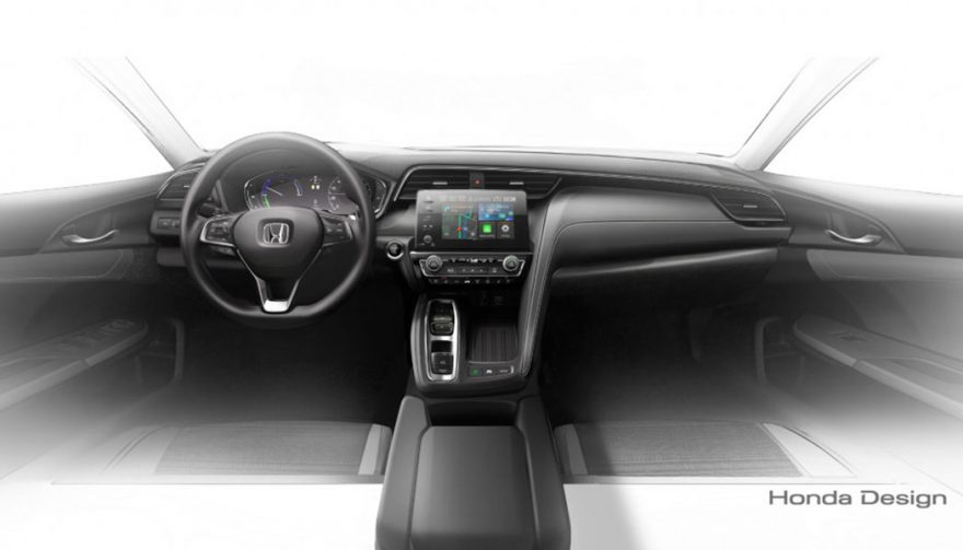 The interior of the all new Honda Insight