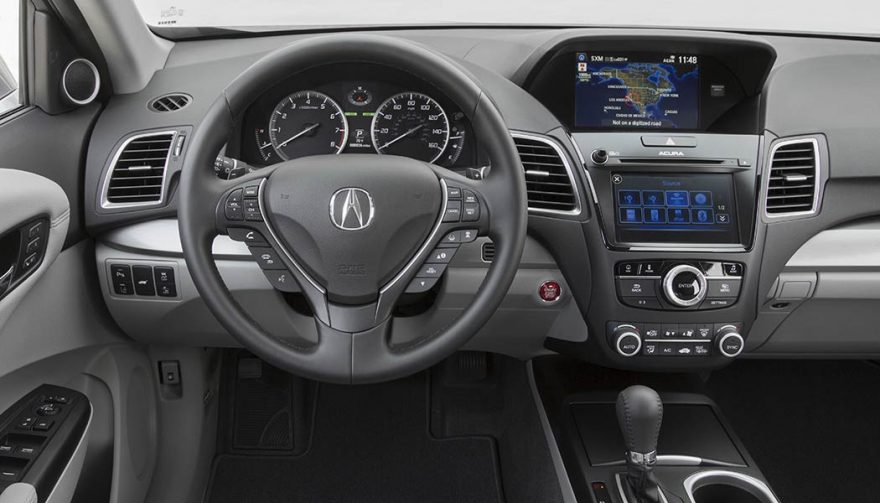 The interior of the 2017 Acura RDX
