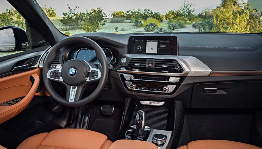 The Interior of the 2018 BMW X3