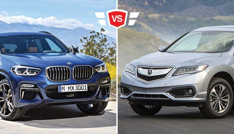 A BMW X3 vs Acura RDX compact crossover comparison