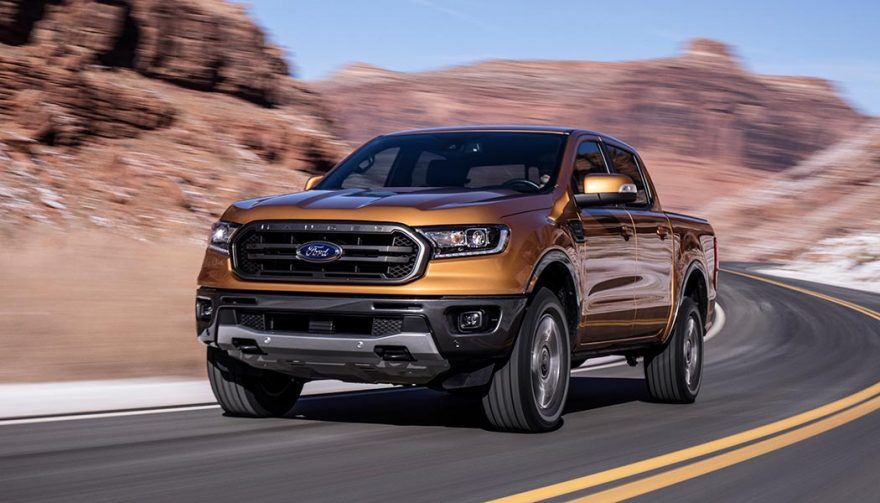 The 2019 Ford Ranger showcased at the 2018 NAIAS