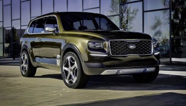 The Kia Telluride is a full-size, three-row SUV