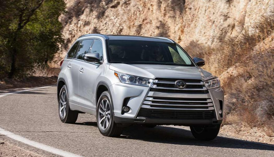 The Toyota Highlander was one of the best selling suvs in 2017
