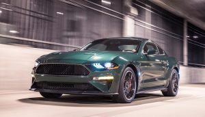 The Ford Mustang Bullitt on display at the 2018 NAIAS