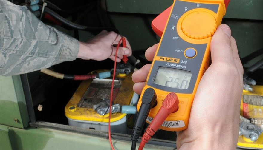Using a Multimeter (DVOM) to check a battery