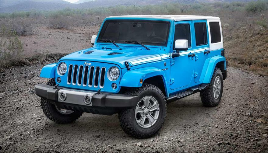 The Jeep Wrangler was one of the best selling SUVs in 2017