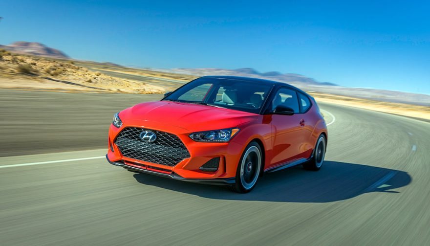 The 2019 Hyundai Veloster is one display at the 2018 NAIAS