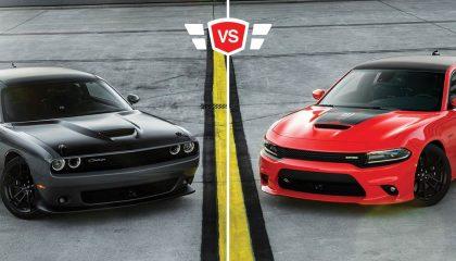 Charger vs Challenger Muscle car comparison