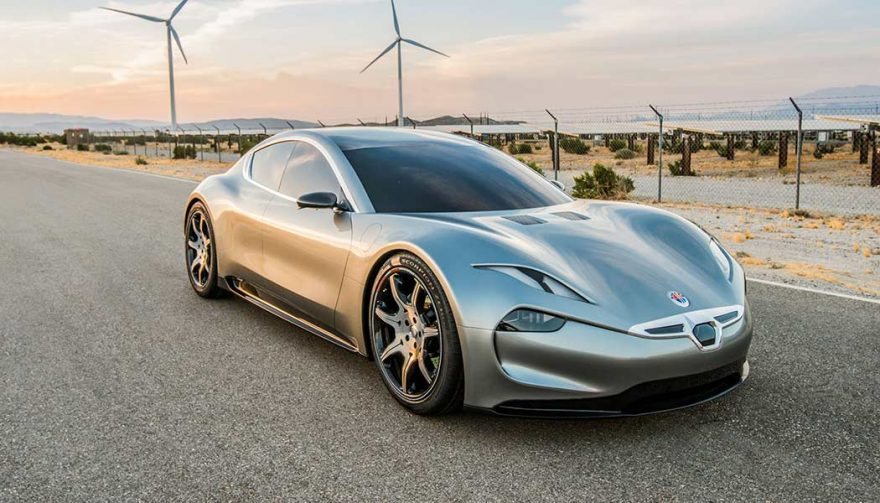 The Fisker EMotion at the CES 2018