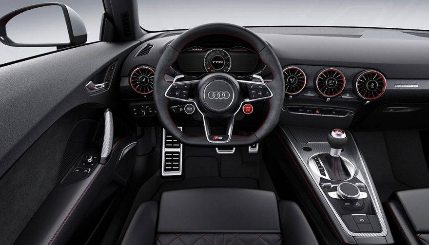 The interior of the 2018 Audi TT RS