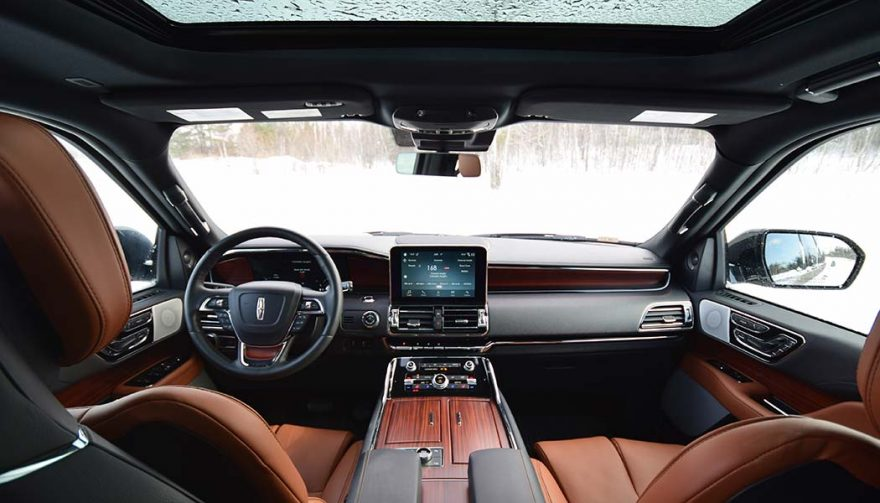 The interior of the 2018 Lincoln Navigator