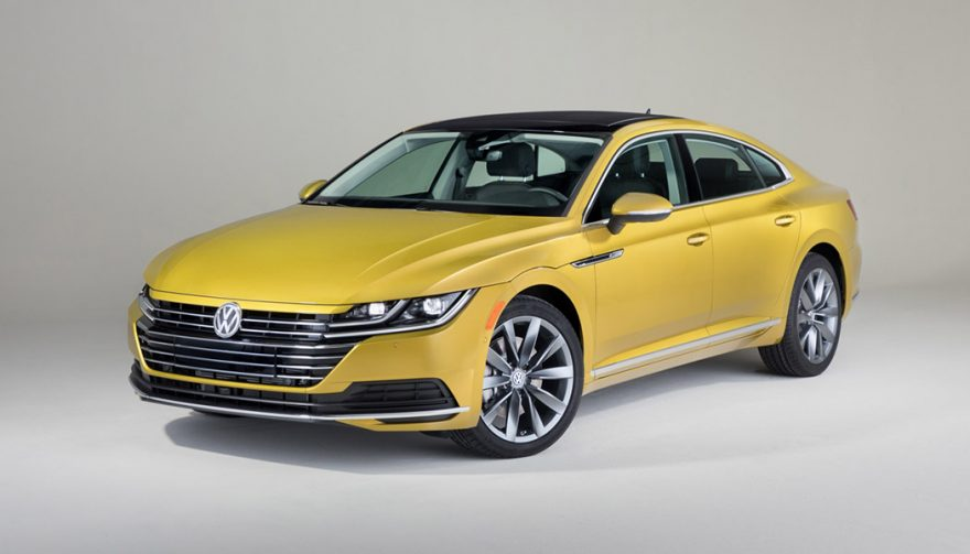 The Volkswagen Arteon on display at the Chicago Auto Show