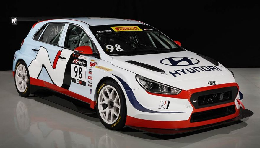 The Hyundai i30 N TCR at the Chicago Auto Show