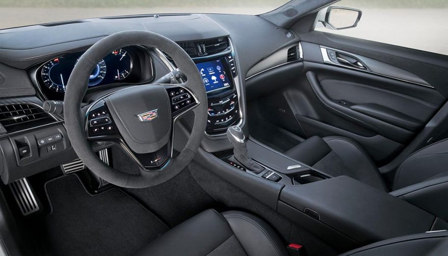 the interior of the 2018 Cadillac CTS