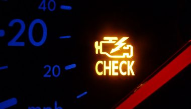 Car warning lights include the check engine light