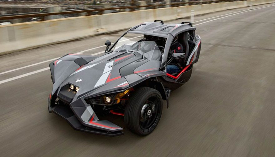 The Polaris Slingshot Grand Touring LE at the Chicago Auto Show