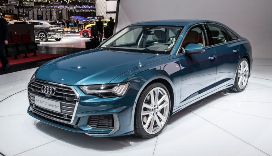 Audi A6 at the Geneva Auto Show