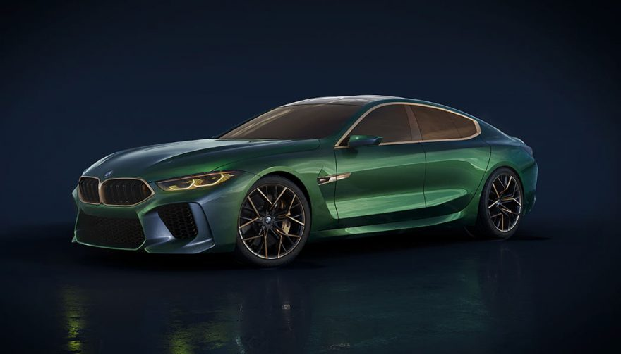 The BMW M8 at the Geneva Auto Show