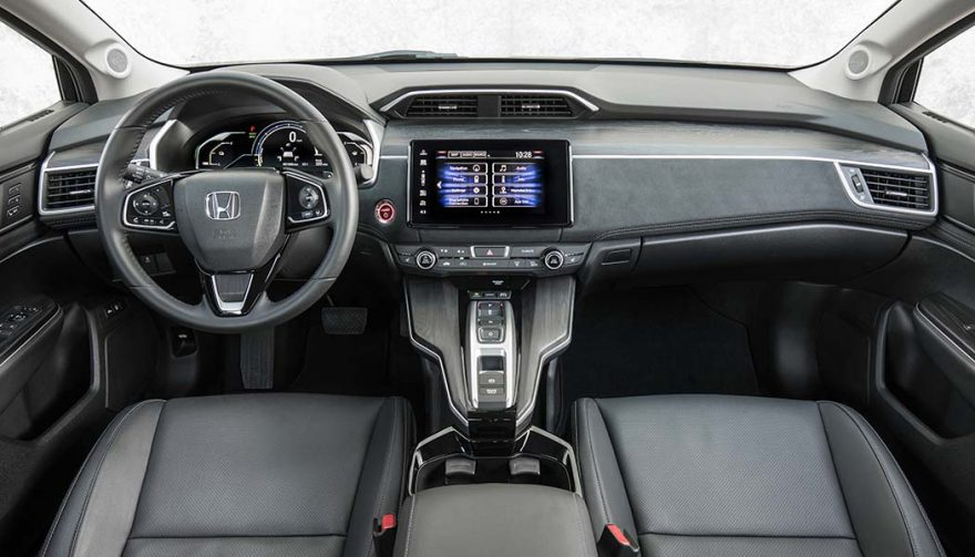 The interior of the Honda Clarity