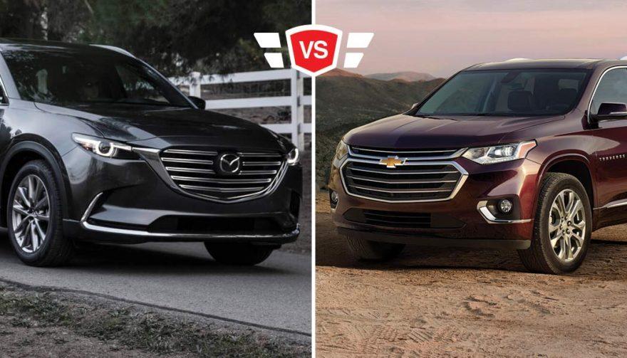 Mazda CX-9 vs Chevrolet Traverse family crossover comparison
