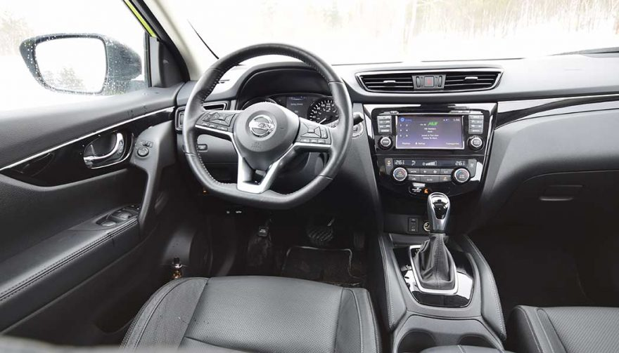 The Nissan Rogue Sport interior