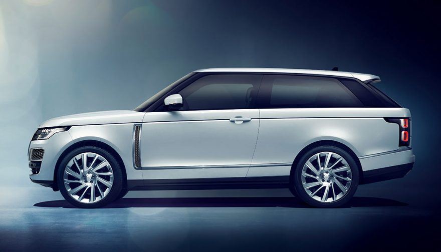 The Land Rover Range Rover SV Coupe at the Geneva Auto Show