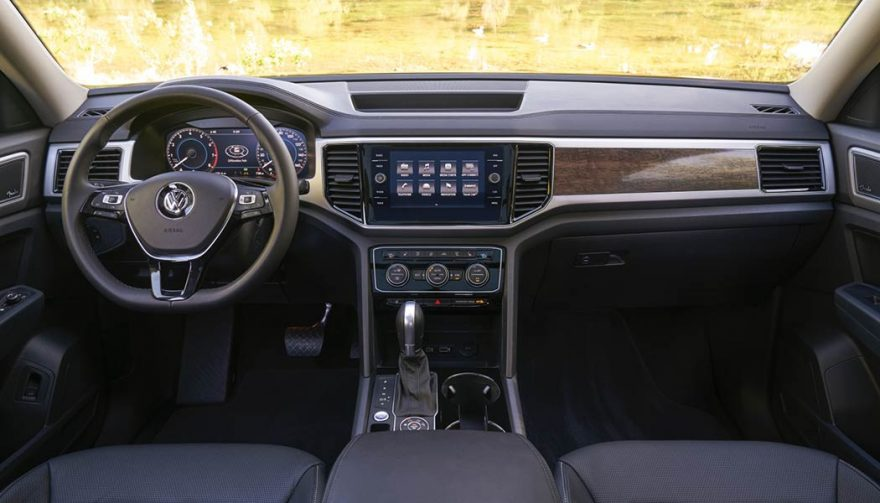 Interior of the 2018 Volkwagwn Atlas