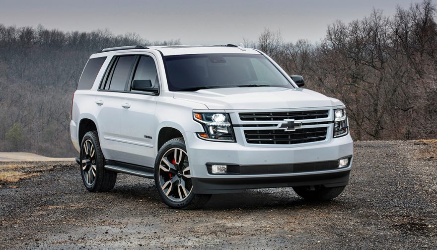 A White 2018 Chevrolet Tahoe
