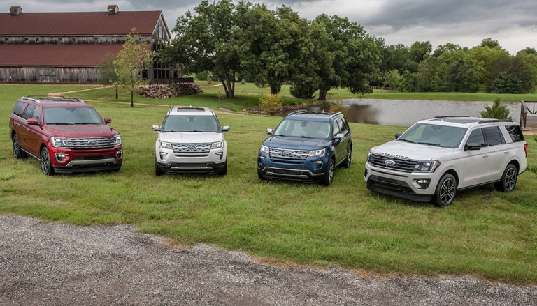 It's two new Ford Expedition Special Editions as well as two fancy versions of the Explorer. With special trim, upscale leather and more.