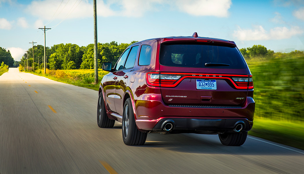 The Dodge Durango SRT8 packs SRT's biggest V8 into FCA's biggest SUV to bring 475 hp to up to seven people at the same time.